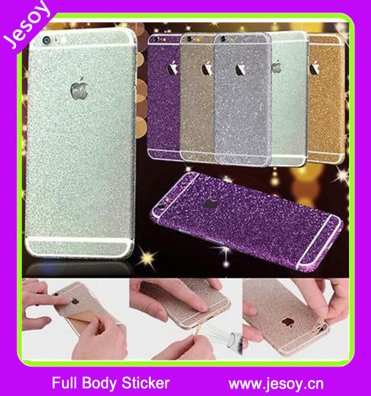 JESOY 360 Mobile Phone Sticker Case Glitter Cover For iPhone 6 6s Full Body Degree