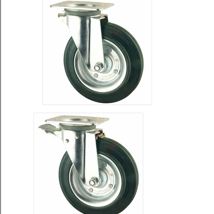 Steel core casters garbage bin wheel trolley wheels for dustbin