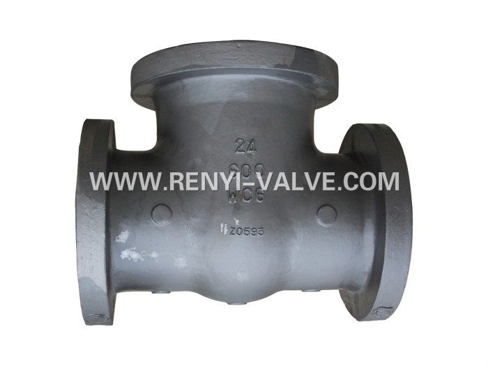 Foundry directly! casting Alloy steel WC6 flanged valve body for API600 gate valve