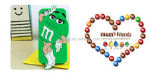 Wholesale cell phone accessory for iphone 5S cute 3D M&M silicone case