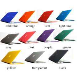 "Rubberized hard cover laptop case for macbook air 11"" Ultra Thin Clear PC Cover Case for Macbook Air 13"" Factory Price"