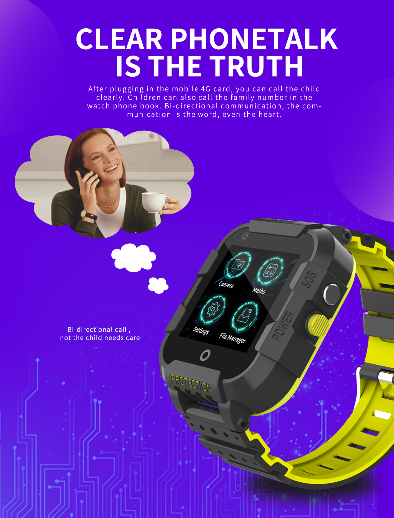 2019 android smart watch KT12 Video Call 4G waterproof gps tracking watch sos wifi gps smart watch