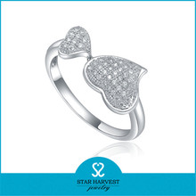 Hot Selling 925 Sterling Silver Rhodium Plated Mirco pave ring