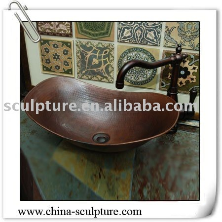 kupfer sp lbecken metall waschbecken bad eitelkeiten. Black Bedroom Furniture Sets. Home Design Ideas