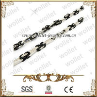 Black Plated Stainless Steel Hip Hop Jewelry