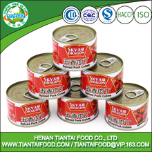 Canned Pork Cubes Meat With All Kinds of Can Sizes