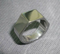 forged Titanium Ring, hand forged rings