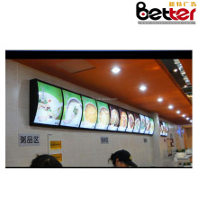 50*60cm aluminum frame indoor LED advertising display billboard stand fast food KFC menu board