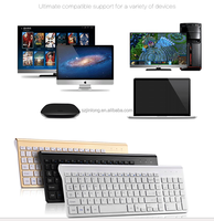 high quality chocalate design keycap fashion 2.4G wireless keyboard and mouse combo