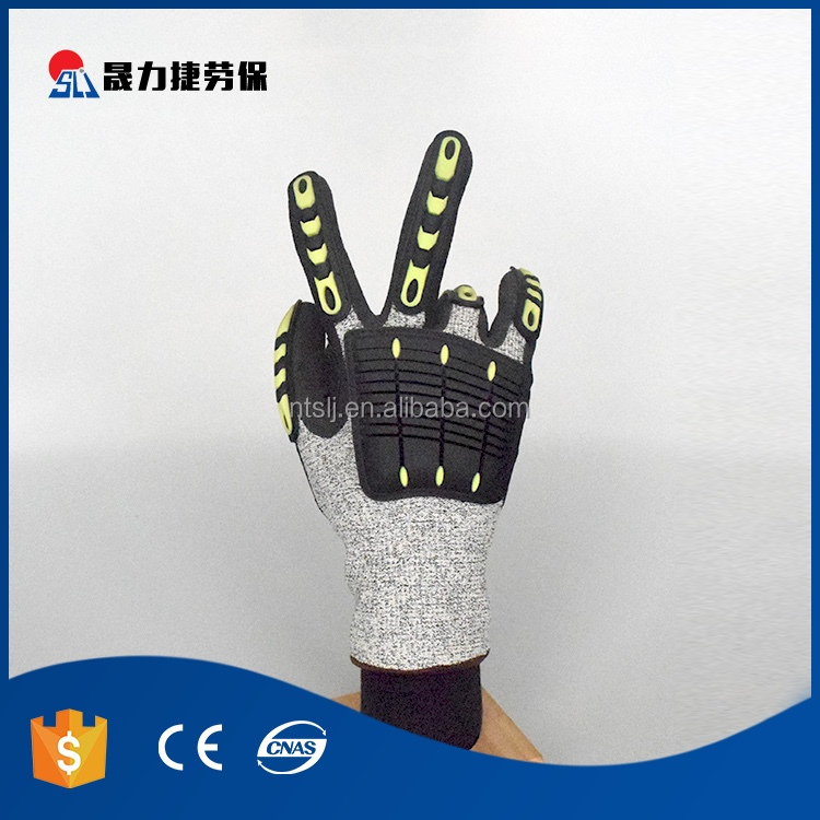 Easy to use safety protection oil gas industrial mechanics gloves