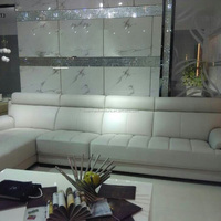 Modern White Leather Sofa Furniture Living
