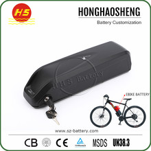 48V 11.6ah 18650 cell down tube lithium Battery Pack for electric bike