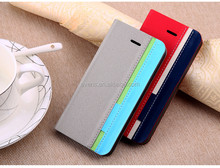 Contrast color Fashion PU Leather Wallet Flip Mobile Phone Case Cover For LG P880