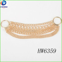 Sealing ring gold chain bra pads for swimwear jewelry chain swimwear accessories