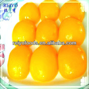 canned fresh yellow peach fruit in heavy syrup 425g in China tins good price natural