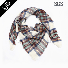 winter scarf checked acrylic wholesale blanket scarf shawl