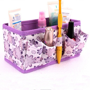 Girl Must-Haves High Quality Cosmetic Storage Box Cosmetic Holder 4 Fashion Colors Folding Makeup Storage Box Keep Tidy