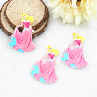 flat back resin princess DIY resin cabochons accessories for kids hair phone home