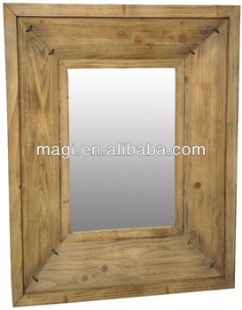 Distressed Hot sale Wood Decorative Mirror
