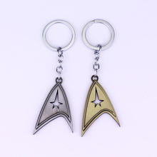 Movie Star Trek keychain quality alloy plating metal key chain for promotion