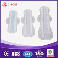Comfortable hot selling disposable different types of sanitary pads