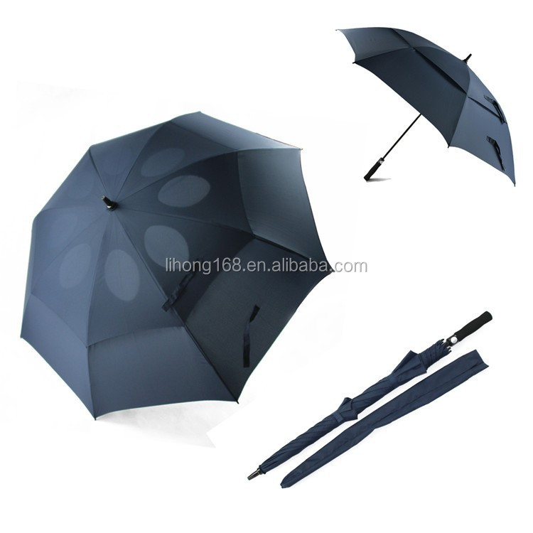 62 inch double canpoy windproof golf umbrella with air vents