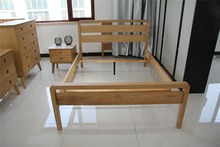 cheap simple bedroom pine wood standard adult single beds