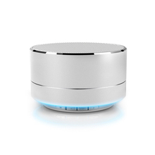 Wholesale High Quality A10 LED Round Mini Wireless Portable Bluetooth Speaker