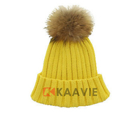 guangzhou custom fashion knitted beanie pom pom winter hat skull ski