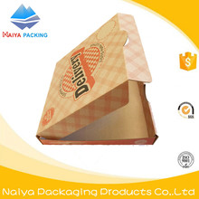 Latest high quality brown kraft cardboard pizza food paper carton box wholesale