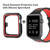 High Quality Sport Smart Soft Silicon Watch Band With Cover Case For Apple iWatch Series 3 2 1