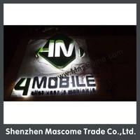 Hot sale 3D used outdoor back lighted channel letter signs foe business name