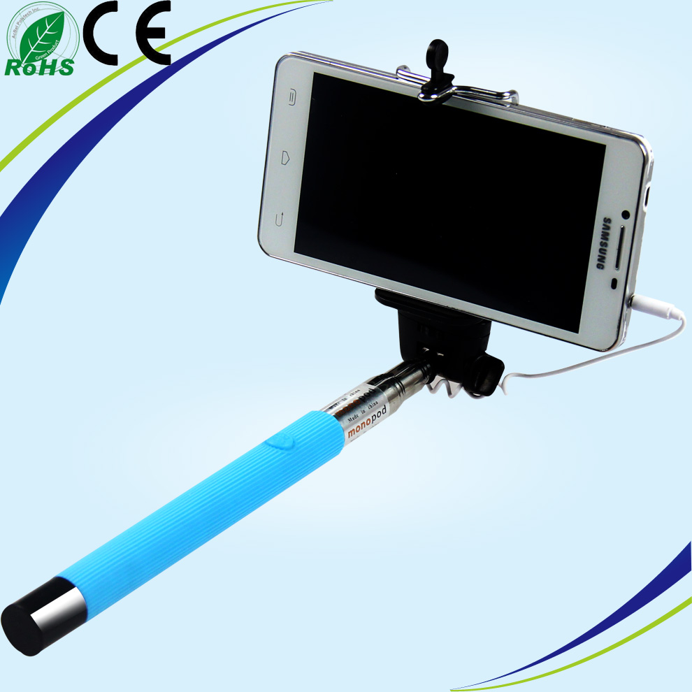 monopod selfie stick with cable dispho selfie sticker with ss groove tube b. Black Bedroom Furniture Sets. Home Design Ideas