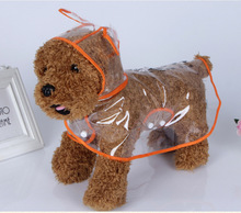 Fashion Pet Dog RainCoat Jacket Clothes Dogs Puppy Raincoats Transparent Waterproof Rainsuit 1 Color