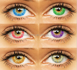 232cf3a09eb4 2018 Korean Yearly Cycle Cosplay Galaxy Colored Contact Lens Wholesale Halloween  Crazy Contact Lenses