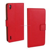 Mobile Phone Wallet Leather cover case for huawei P7