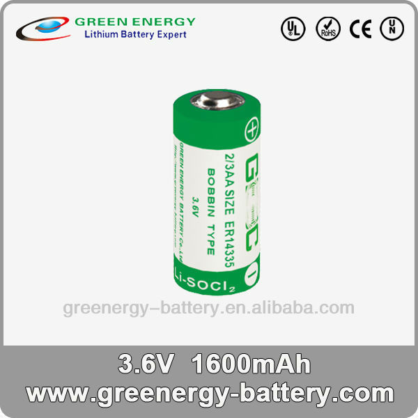 3.6v primary lithium battery energizer battery batteries electronic ER14335 1600mah 2/3AA
