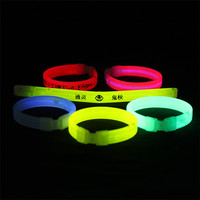 Concert Glowing Wristbands Customized Logo Night