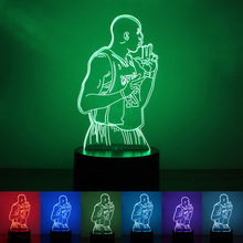 Factory direct creative new Kobe 3D colorful Nightlight 1.5W USB LED lamp energy saving and environmental protection