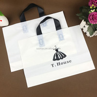High quanlity customized colorful printing plastic soft loop handle PE shopping bag