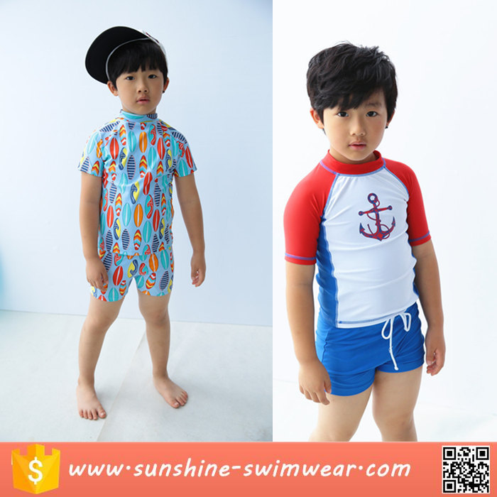 Low MOQ Custom Cute Child Baby Boys Tankini Swimwear Bathing Suit