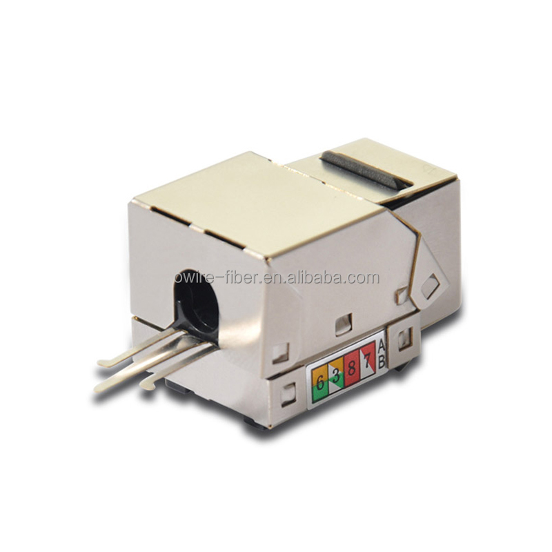 Network Solution RJ45 8P8C shield 90 Degree Cat 5e Keystone Jack