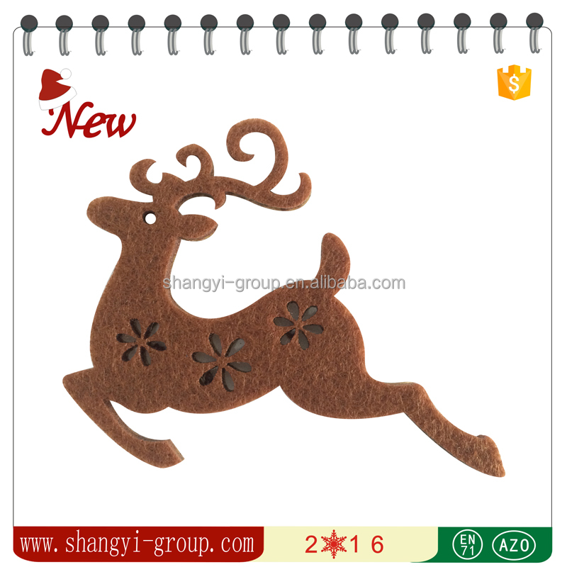 XM4-03 Holiday and christmas home decoration laser cut felt moose sticker