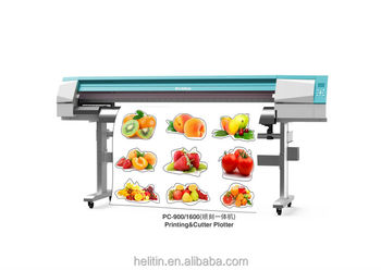 Helitin eco-solvent Printer Cutter with EPSON Dx5 print head PC900