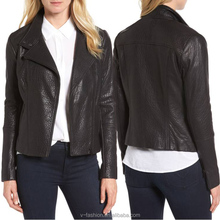 2017 new hot sale made in china fashion latest design cheap winter leather jacket