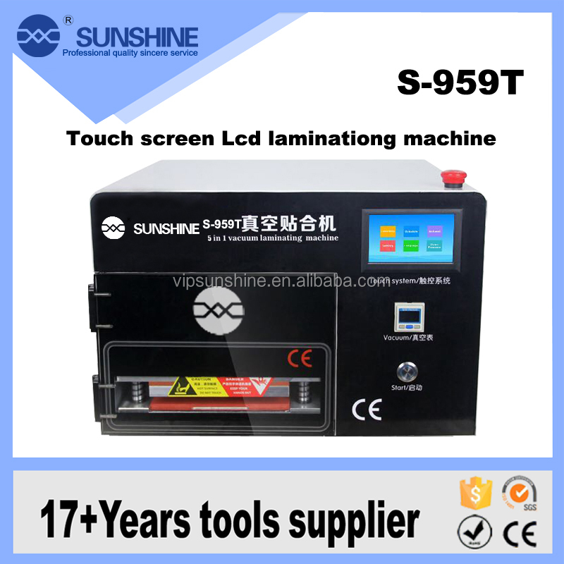 Digitizer 5 in 1 oca lcd air bubble remover mobile phone lamination machine with touch screen