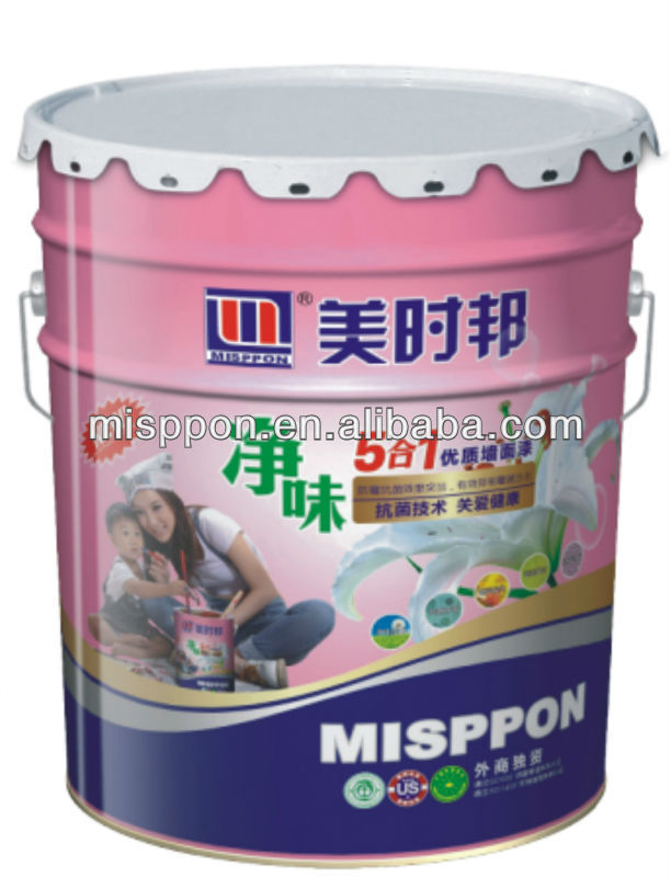 Misppon Waterborne Odorless Decorative White Emulsion Interior Wall Paint(Acrylic Latex Paint)