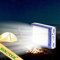 SINOTEK cheap rechargeable large capacity soalr charger 10400 solar power bank 20000mah
