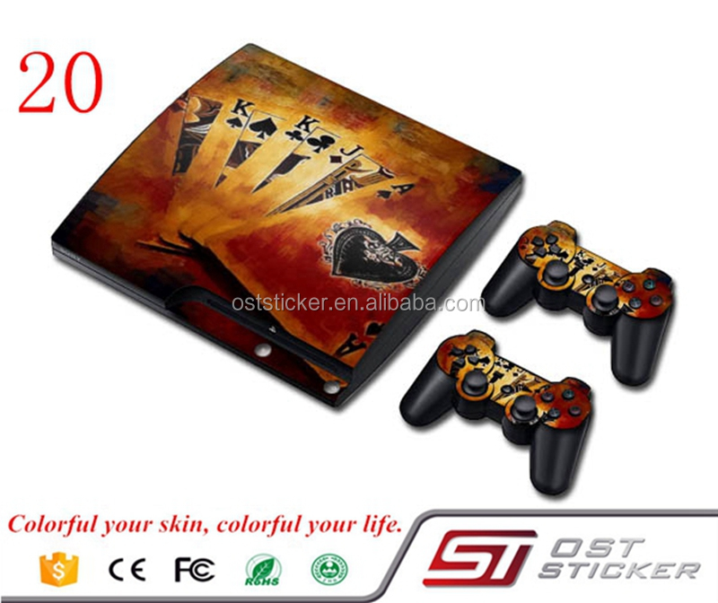 Protecive Custom vinyle decal stickers Skin pour PS3 Slim gros