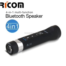 bike speaker bluetooth waterproof,Outdoor Bicycle /Bike Wireless Portable power bank speaker,Bluetooth Speaker with Flashlight